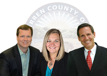Warren County Commissioners David G. Young, Shannon Jones, and Tom Grossmann